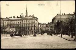 Postcard Riga Lettland, Partie an der Kalk Straße