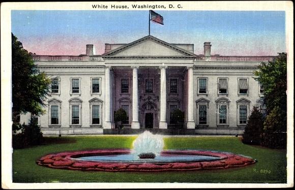 ansichtskarte postkarte washington d c white house. Black Bedroom Furniture Sets. Home Design Ideas