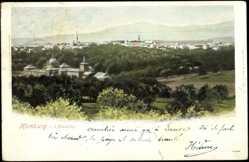 Postcard Bad Homburg, Blick auf die Stadt von der Ellerhöhe gesehen