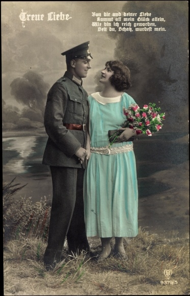 Treue Liebe Von Dir Und Deiner Soldatenliebe Mann Frau