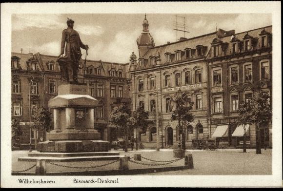 Bismarck Denkmal Wilhelmshaven Partie am Bismarck Denkmal