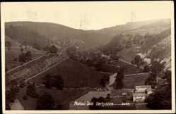 Postcard Derbyshire East Midlands, Blick in das Tal Monsal Dale