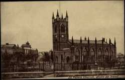 Postcard Stoke on Trent England West Midlands, St. Peter's Church, Blick auf Kirche