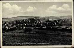 Postcard Großrosseln Waldgebiet Warndt, Gesamtansicht der Stadt, Kirche