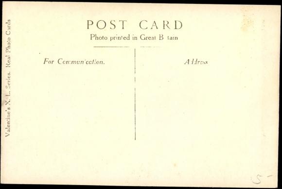 Rückseite Ansichtskarte / Postkarte The Royal Family, König Georg V., Maria von Teck, Prince of Wales