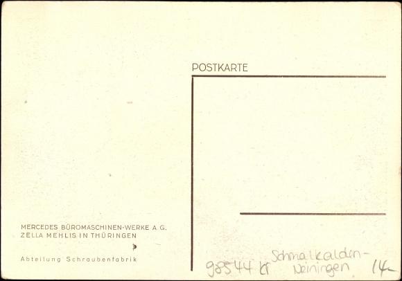 postcard zella mehlis th ringen mercedes b romaschinen. Black Bedroom Furniture Sets. Home Design Ideas