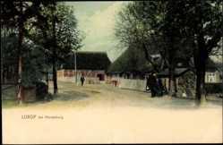Postcard Lurop Ahrensburg, Straßenpartie im Ort mit Hausansichten