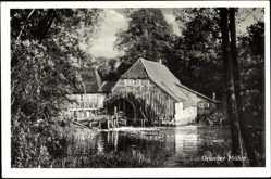 Postcard Kuddewörde Kreis Lauenburg Schleswig Holstein, Partie an d. Grander Mühle