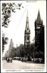 Ansichtskarte / Postkarte Melbourne Victoria Australien, Collins Street, Valentine Series No. 3374