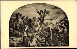 Künstler Ak Jansen, P., Schlacht bei Fehrbellin, 1675, Schweden, Brandenburg