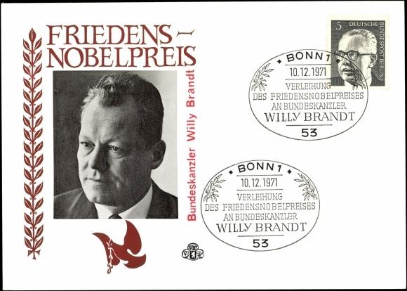 Ansichtskarte / Postkarte 4. Bundeskanzler der BRD Willy ...