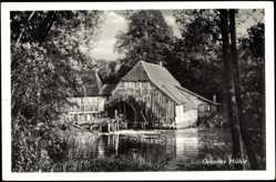 Postcard Rotenbek Kuddewörde, Grander Mühle, Wassermühle, Haus