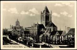 Postcard Dublin Irland, Christchurch Cathedral, Ansicht der Kirche