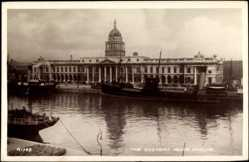 Postcard Dublin Irland, general view of the Customs House