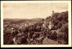 Postcard Ljubljana Slowenien, Zapadni del, Blick auf den Ort