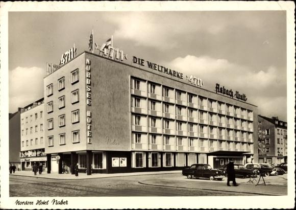 ansichtskarte postkarte bremerhaven nordsee hotel naber stra enansicht parkplatz. Black Bedroom Furniture Sets. Home Design Ideas