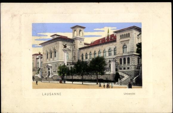 Postkarte lausanne kanton waadt blick auf die universität