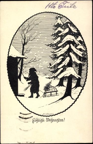 Passepartout scherenschnitt ansichtskarte postkarte for Scherenschnitt weihnachten
