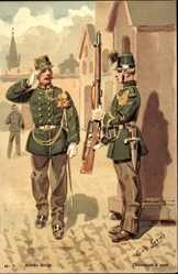 Künstler Ak Geens, Louis, Armee Belge, Belgische Soldaten, Gewehr