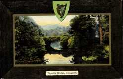 Passepartout Ak Glengariff Irland, general view of Proudly Bridge