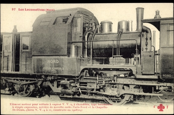 postcard les locomotives francaises nord dampflok. Black Bedroom Furniture Sets. Home Design Ideas