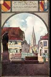 Künstler Ak Gansloser, Oskar, Ettlingen an der Alb, Gasthaus Zum Kreuz