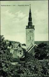 Postcard Tallin Estland, Niguliste Kirik, Blick auf die Kirche