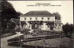 Cp Les Etilleux Eure et Loir, vue générale de l'Ermittage, la Maison de repos
