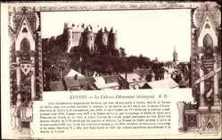 Cp Luynes Indre et Loire, vue générale du Château, Monument historique
