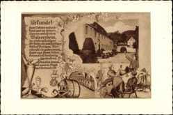Künstler Ak Walporzheim Bad Neuenahr Ahrweiler, Weinhaus St. Peter, Urkunde