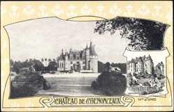 Cp Chenonceaux Indre et Loire, vue générale du Château de Luynes