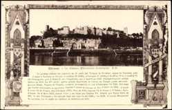 Cp Chinon Indre et Loire, vue générale du Château