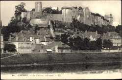 Cp Chinon Indre et Loire, vue générale du Château, sud ouest