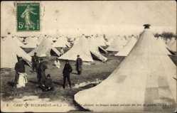 Cp Ruchard Indre et Loire, vue générale du Camp, les troupes, des tentes