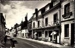 Cp Croix en Touraine en Indre et Loire, L'Auberge des Sports, la Route Nationale