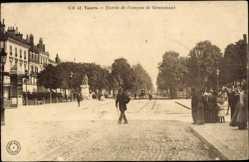 Cp Tours en Indre et Loire, Entree de l'avenue de Grammont