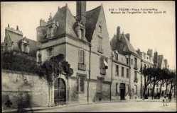 Cp Tours Indre et Loire,Place Foire le Roy,Maison de l'argentier du Roi Louis XI