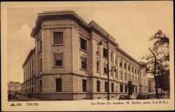 Cp Tours en Indre et Loire, La Poste, Ansicht des Postgebäudes