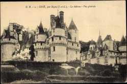Cp Usse en Indre et Loire, Vue du Chateau, vue generale