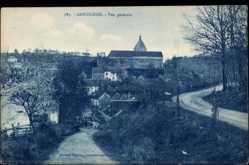 Cp Gargilesse en Indre, Vue Générale, Blick zum Ort, Landstraße