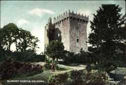 Postcard Cork Irland, general view of the Blarney Castle