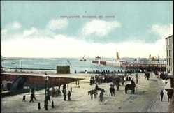 Postcard Bangor Down Irland, Esplanade, Hafenpromenade, Anlegestelle