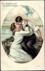 Künstler Litho Underwood, Clarence, Des Meeres und der Liebe Wellen, Kuss