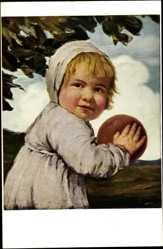 Künstler Ak Zumbusch, Ludwig von, Kind mit dem Ball