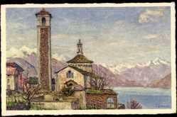 Künstler Ak Zuppinger, E., Brissago Kt. Tessin, Madonna del Ponte