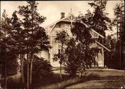 Postcard Kymintehdas Kuusankoski Finnland, Kymmerne bruk, Holzhaus