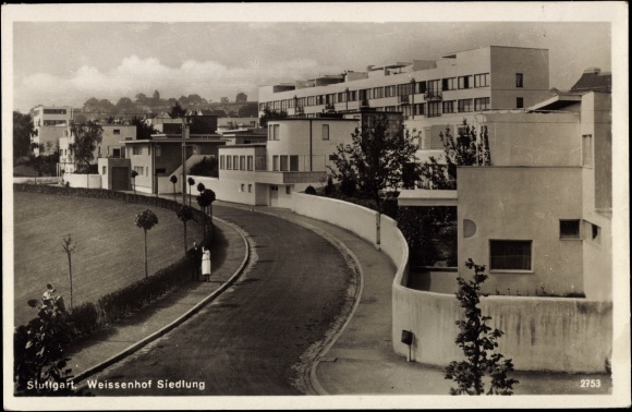 Ansichtskarte postkarte stuttgart wei enhof siedlung - Bauhaus baden baden ...