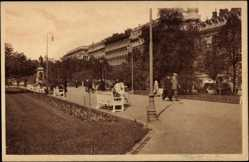 Postcard Helsinki Helsingfors Südfinnland, Esplanaadi, Esplanaden