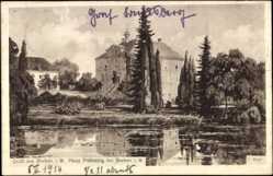 Künstler Ak Risse, C., Borken in Westfalen, Haus Pröbsting, Blick über den See