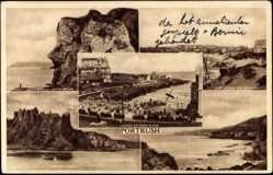 Postcard Portrush Irland, Giants Head, White Rocks, Castle Erin, Dunluce Castle